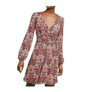 Anthropologie Paisley Belted Dress By Maeve